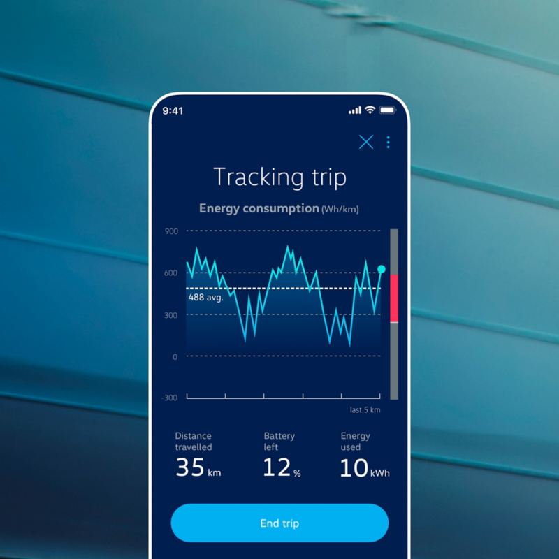 EV Check app showing the mobility profile