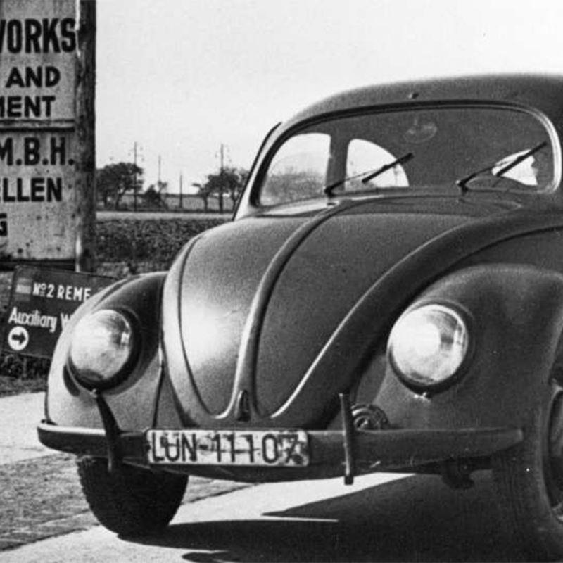 Historisches Bild eines Volkswagen