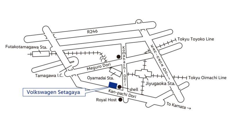 Volkswagen Setagaya Map