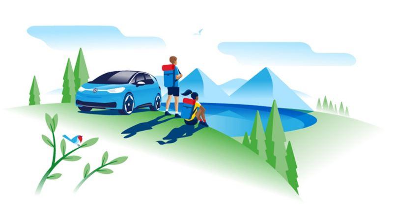 Nature, protection du climat, véhicule électrique, ID.3