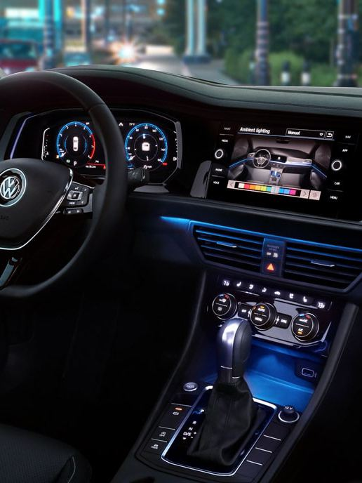 The inside of the Jetta