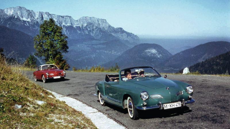 Karmann Ghia Type 14, el auto clásico deportivo de VW lanzado en 1957 sobre carretera