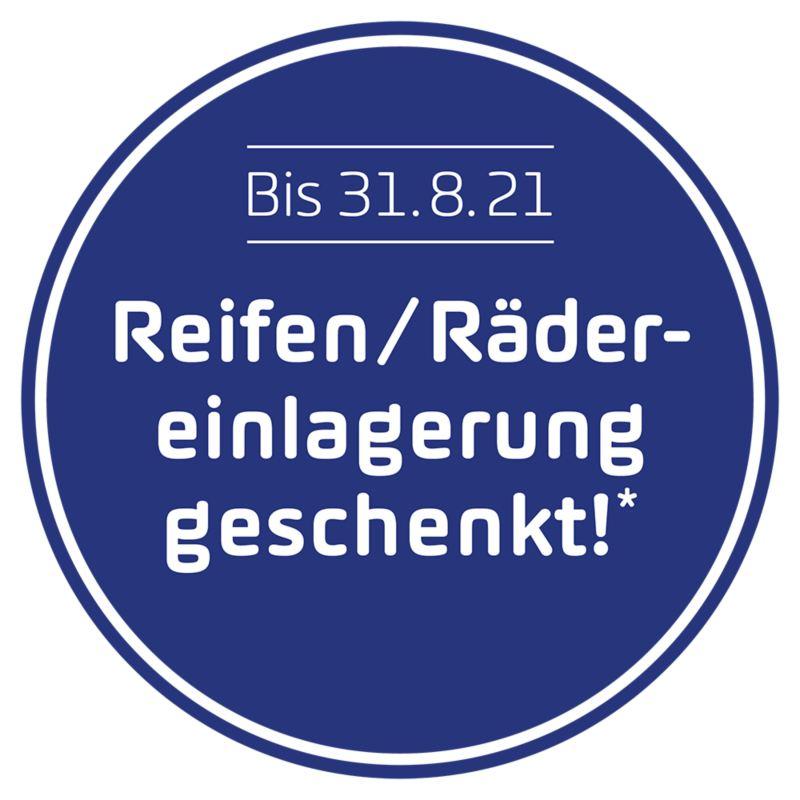 «Reifen/Rädereinlagerung geschenkt» Badge