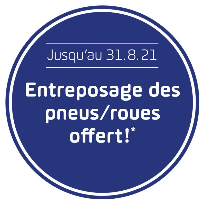 «Entreposage des pneus/roues offert» Badge