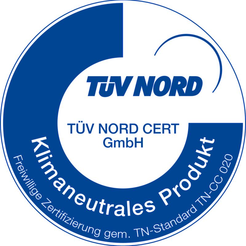 TÜV NORD Zertifikat: Klimaneutrales Produkt