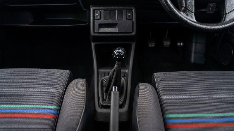 The gearstick in a Mk 2 VW Golf GTI