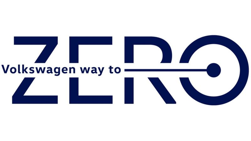 Logo de estrategia de Volkswagen Way To Zero