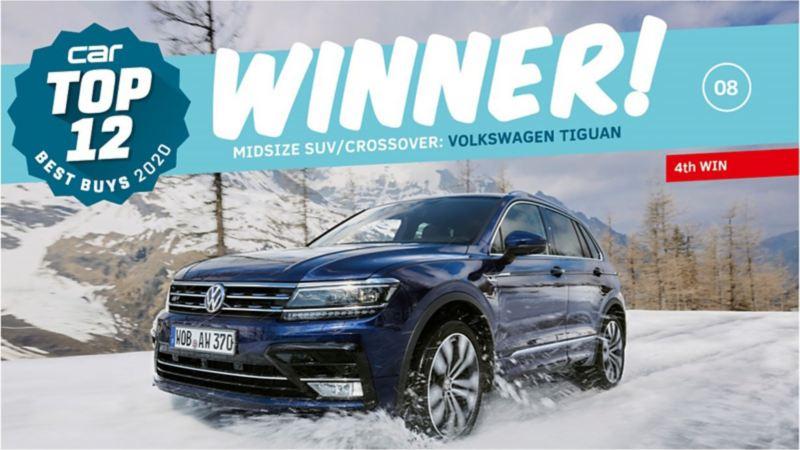 Volkswagen won three awards at the Car Magazine  Top 12 Best Buys Awards