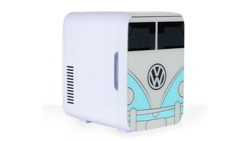 Mini hielera con diseño de Combi de Volkswagen para mantener bebidas frías en viajes largos