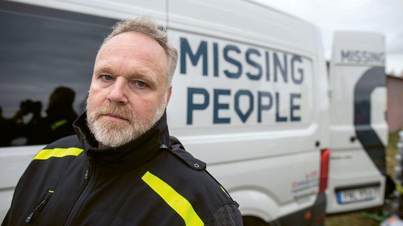 Samuel Persson, vice ordförande i Missing People Sweden