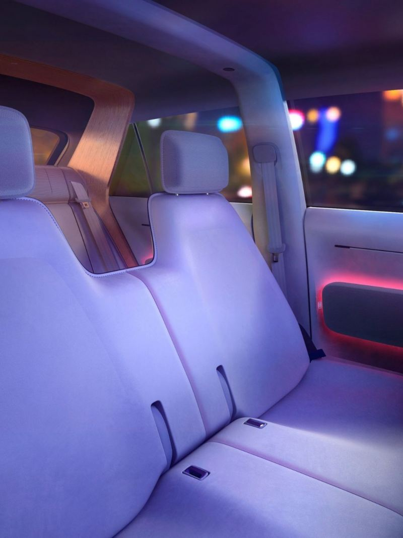CGI mock-up of interior driver and passenger seat in VW ID. Life