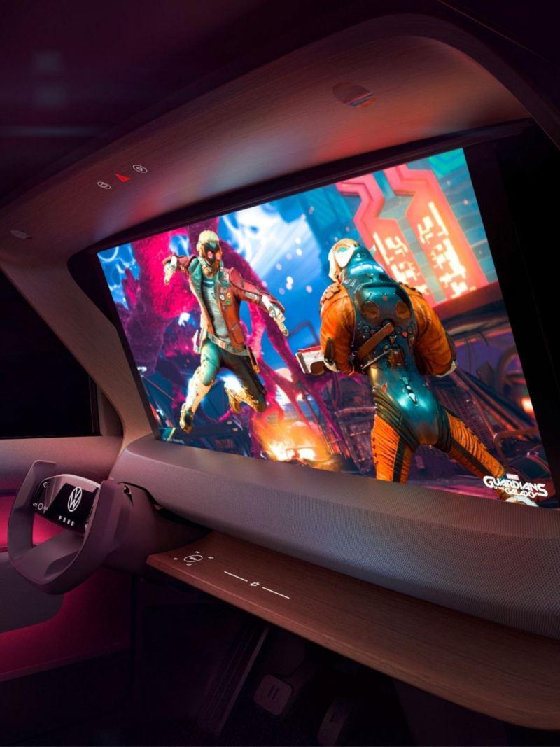 Interior CGI mock-up of the ID. Life concept car
