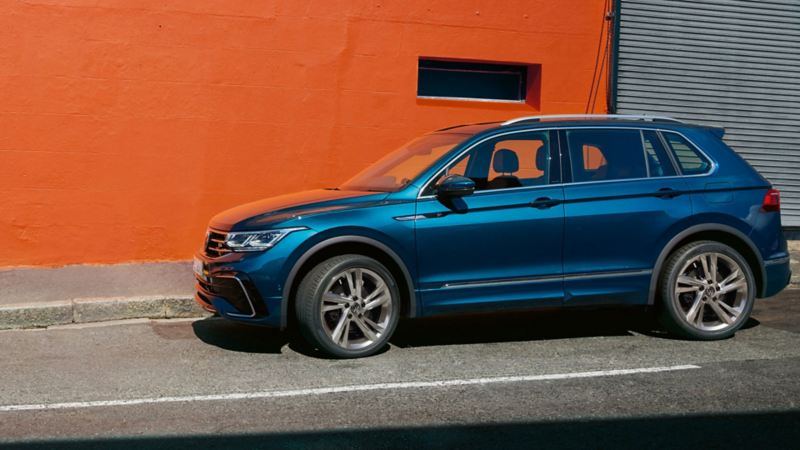VW Tiguan parked on the street
