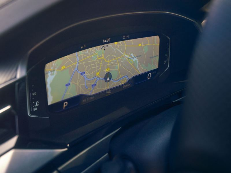 The digital Cockpit screen in a New Arteon.
