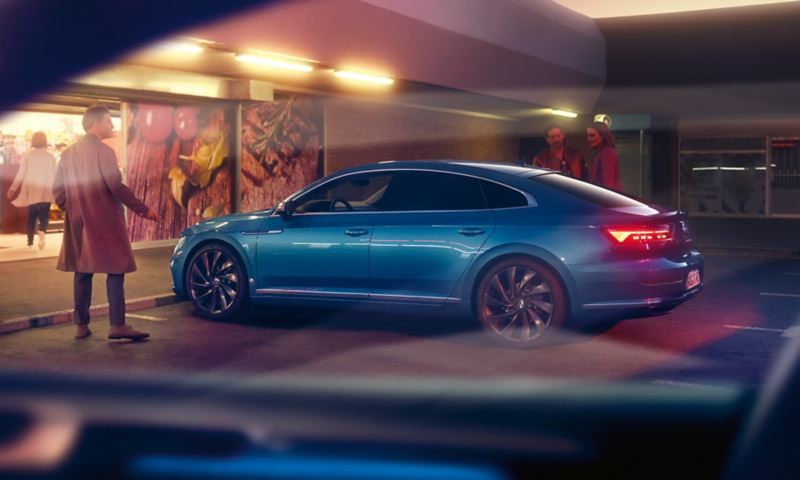 A man stood outside the New Volkswagen Arteon