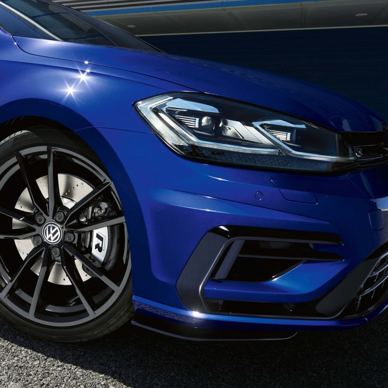 Front lights of a Golf R