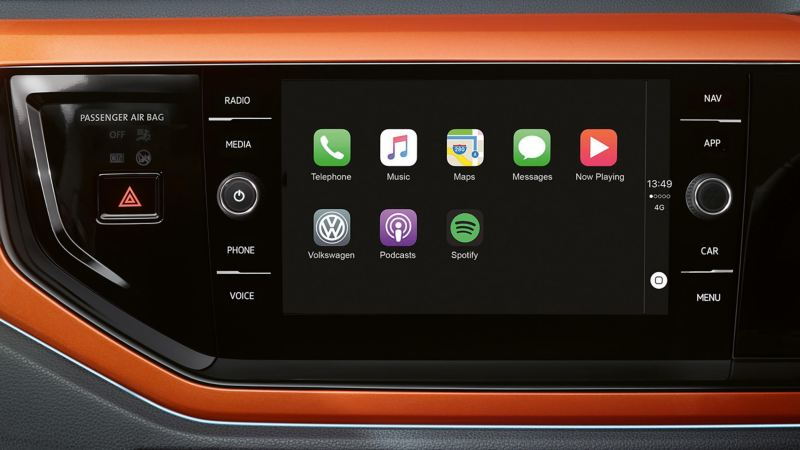 Close up of infotainment system