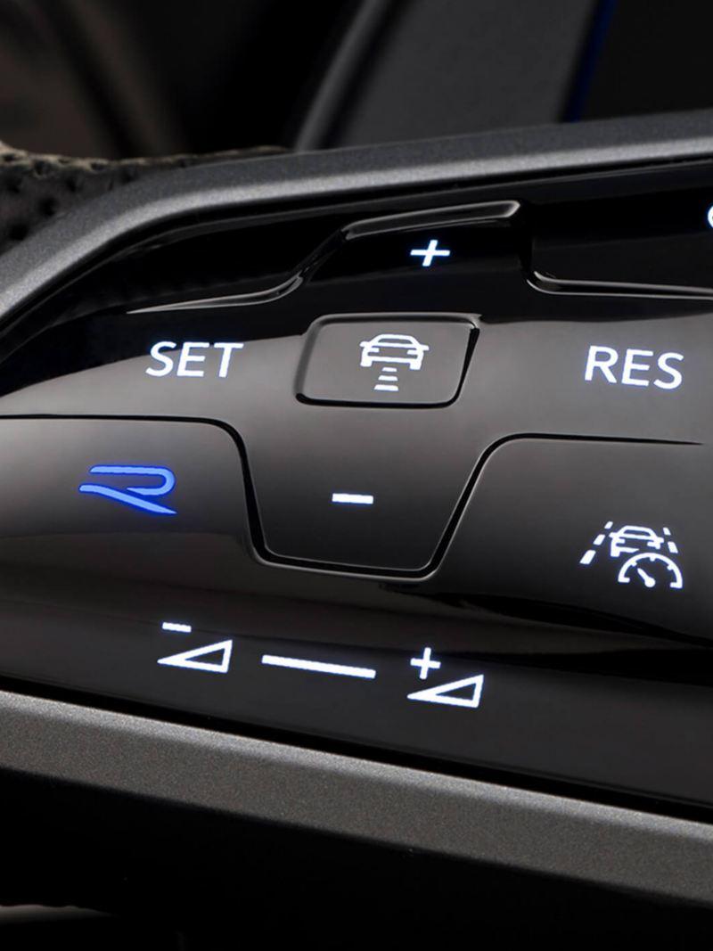 Golf-R detail of the steering wheel