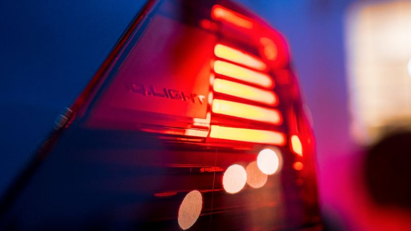 A close up of the IQ light on a VW Tiguan