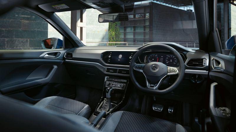 Shot of Volkswagen T-Cross dashboard