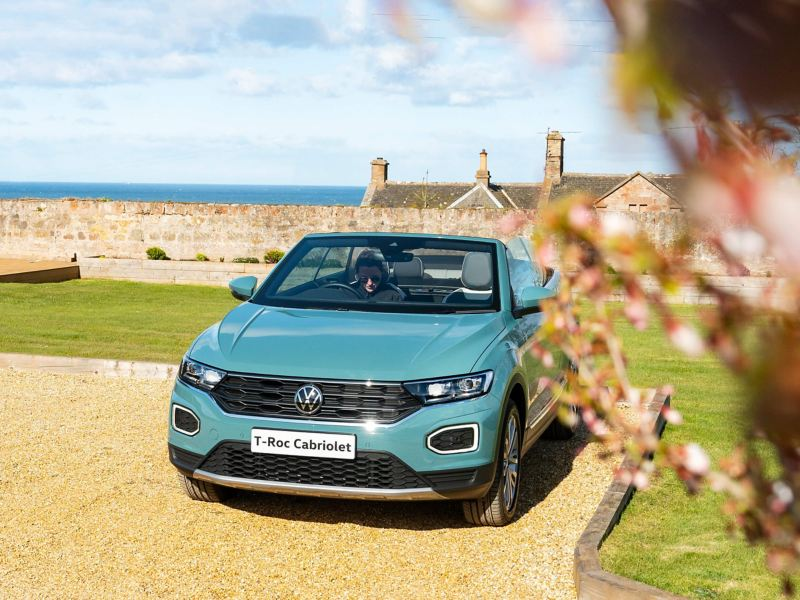 T-Roc Cabriolet parked by the sea