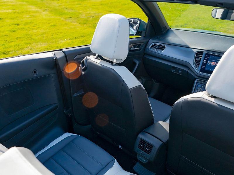 The interior of a Volkswagen T-Roc Cabriolet