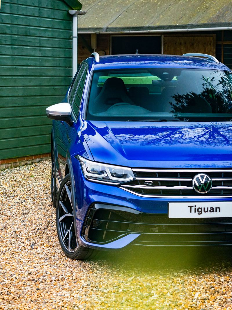 Close up of the sporty rear view of Tiguan R