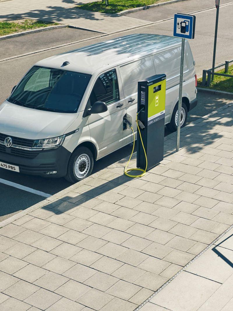 ABT eTranporter van charging in the street