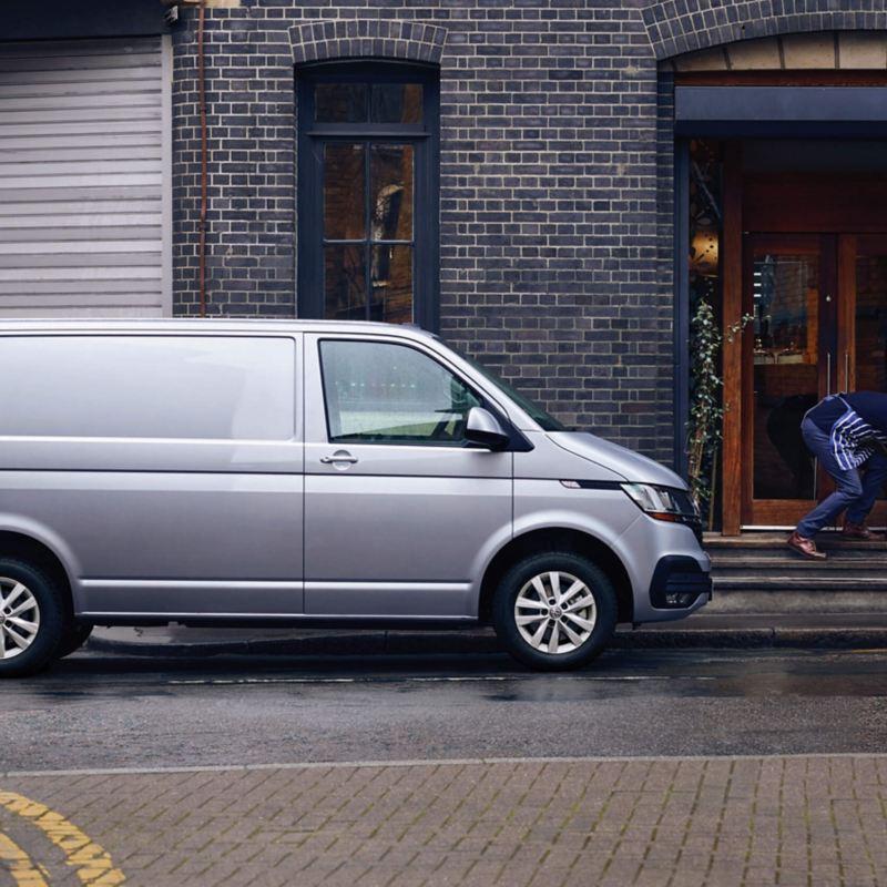 Transporter Panel van on the road