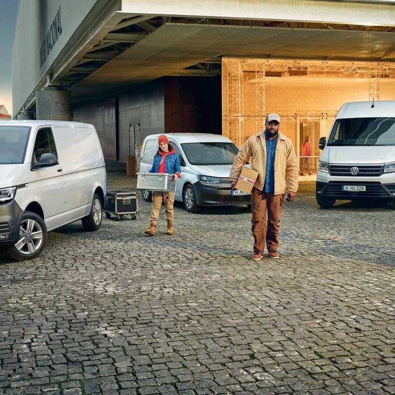 Die Kastenwagen von Volkswagen Nutzfahrzeuge.