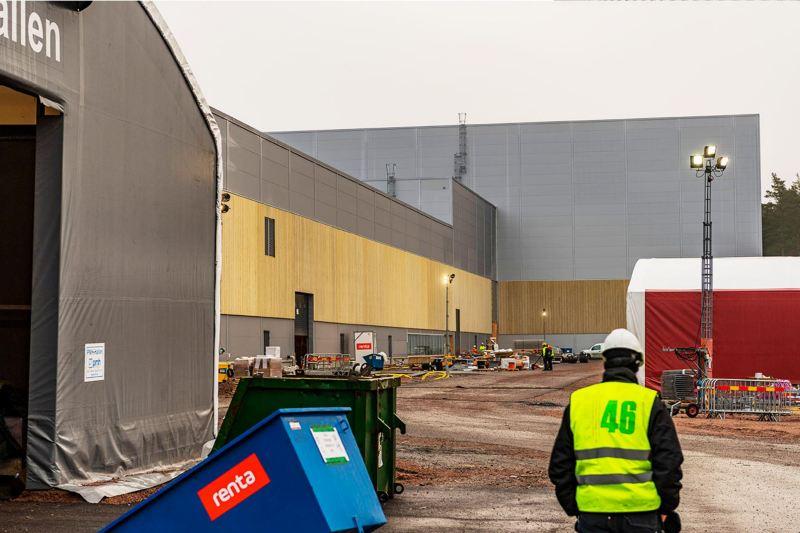Byggarbetsplatsen på Northvolt