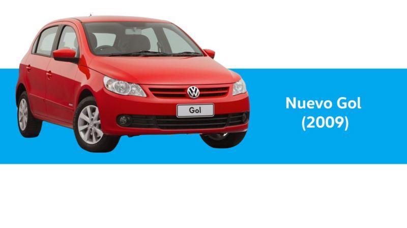Nuevo Gol Volkswagen año 2009 en color rojo