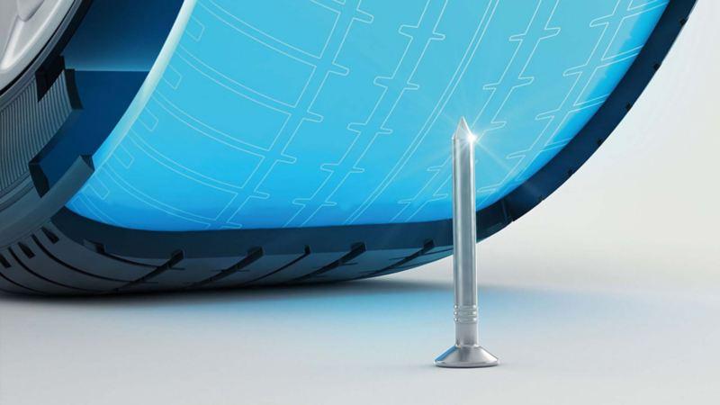 Sezione di uno pneumatico AirStop.