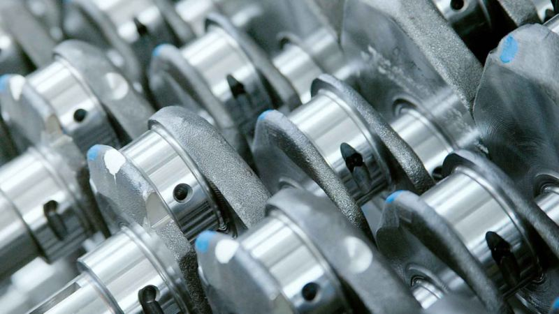 Dettaglio dei ricambi di rotazione originali Volkswagen.