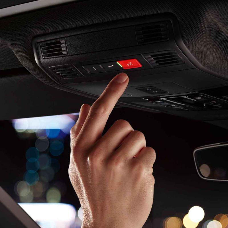 Pulsante del sistema di chiamata Emergency Call di Volkswagen