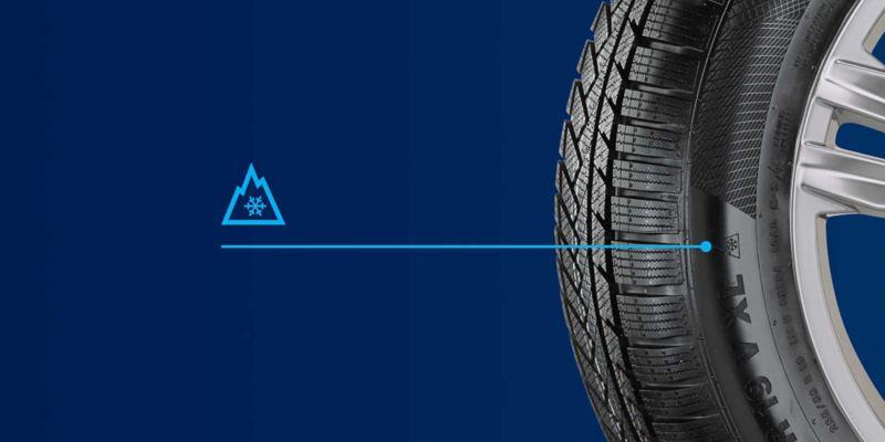 Indicazione pneumatico invernale Volkswagen