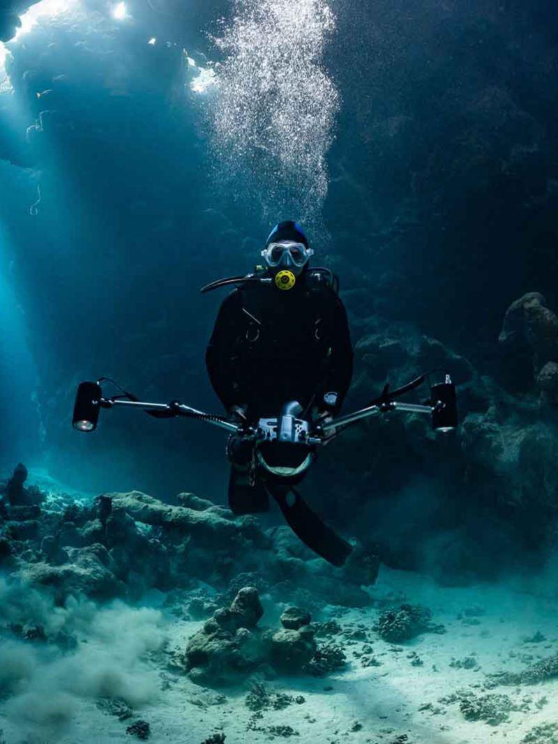 Un sub in immersione.