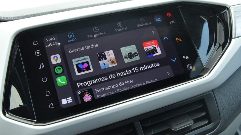 "Imagen pantalla touch a color  10"" de camioneta SUV Volkswagen"