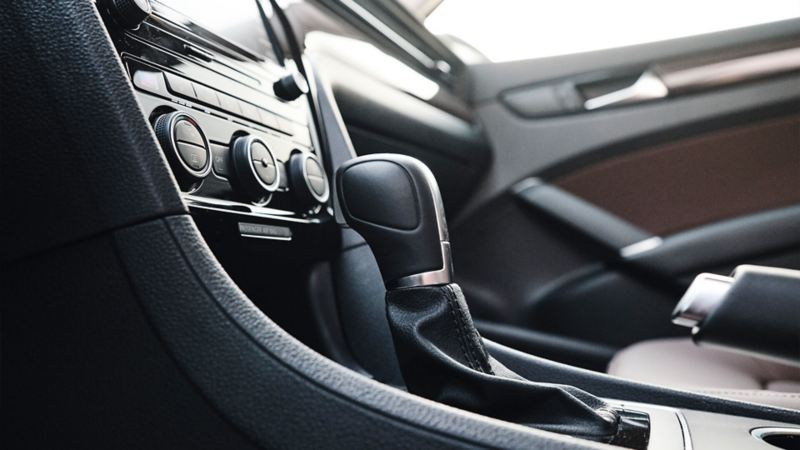 The gearshift and climate control in the 2020 Volkswagen Passat