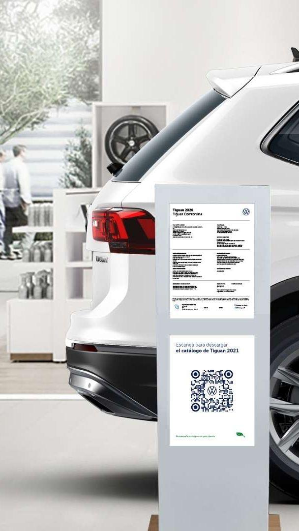 Escanea desde tu celular y explora de manera fácil todos los detalles de los vehículos VW.