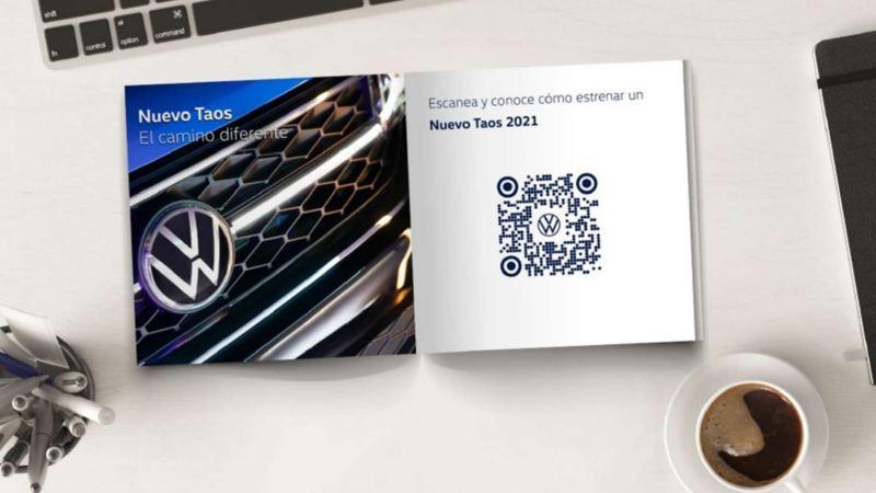 Imagen de código QR de Volkswagen para escanear con el celular y acceder a catálogos.