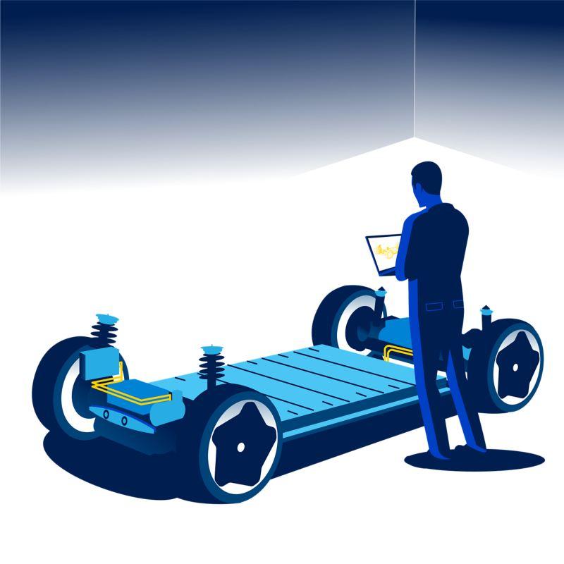 Illustration of a Modular Electric Drive matrix (MEB)