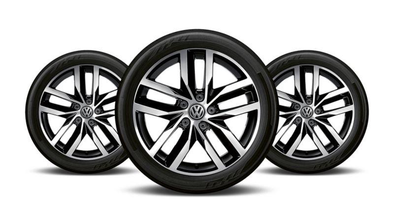 Golf 2020 de VW equipado con rines de aluminio de 17 pulgadas con llantas resistentes