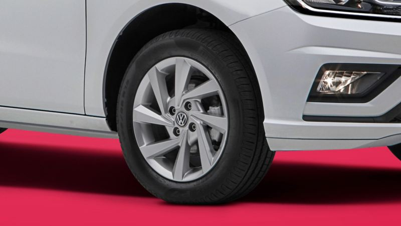 Llantas con rines de aluminio de Gol Edición Aniversario de Volkswagen