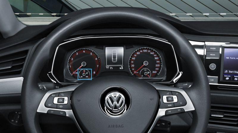 Señalamiento de anticongelante en Digital Cockpit