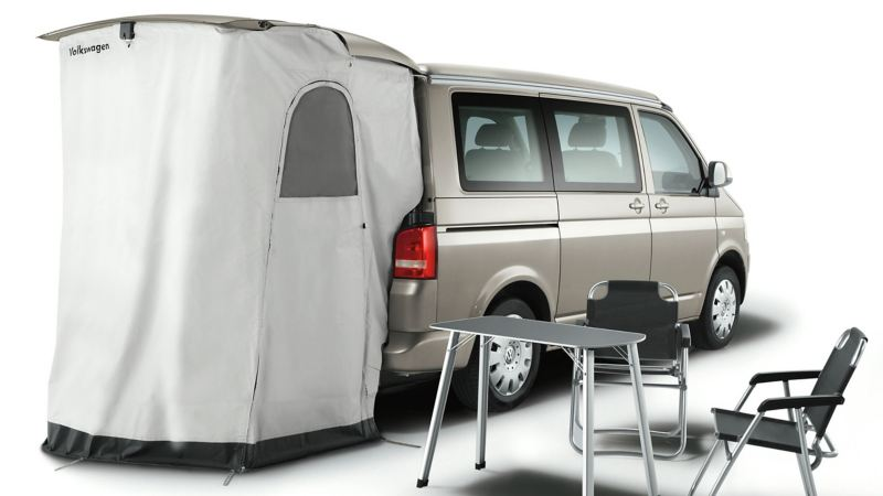 An image showing the shower tent accessory for the California.