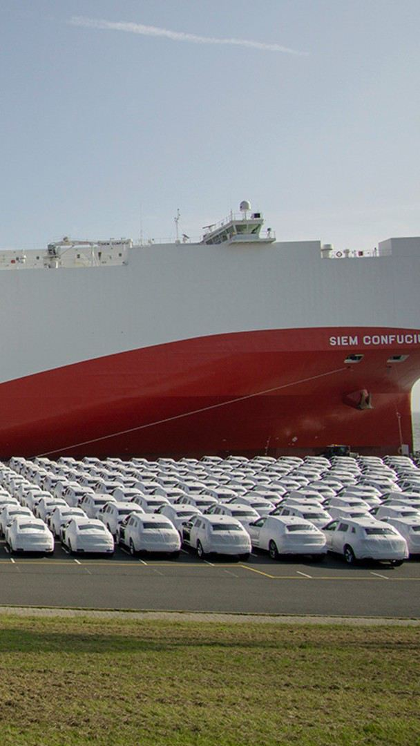 SIEM CONFUCIUS - Buque de transporte de los automóviles de Volkswagen México