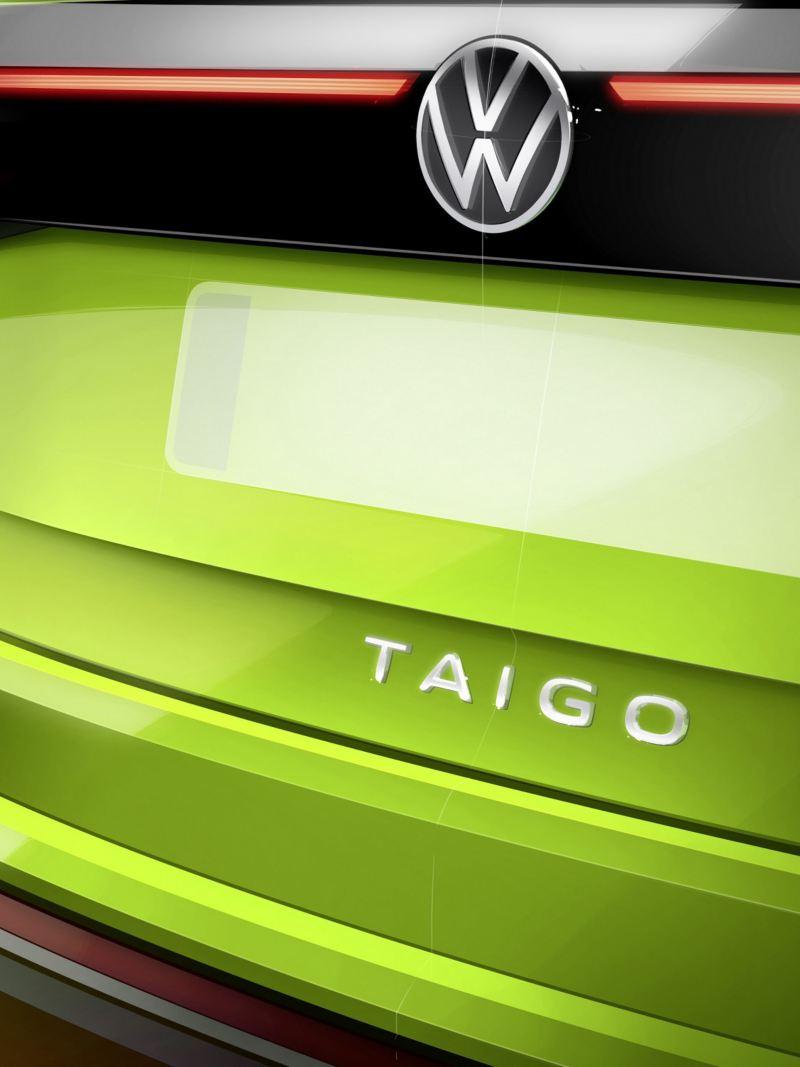 Skissbild av kommande Volkswagen Taigo, detaljbild