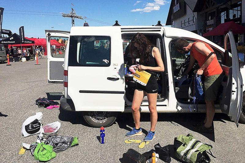 Startförberedelser inför Ultralöpning