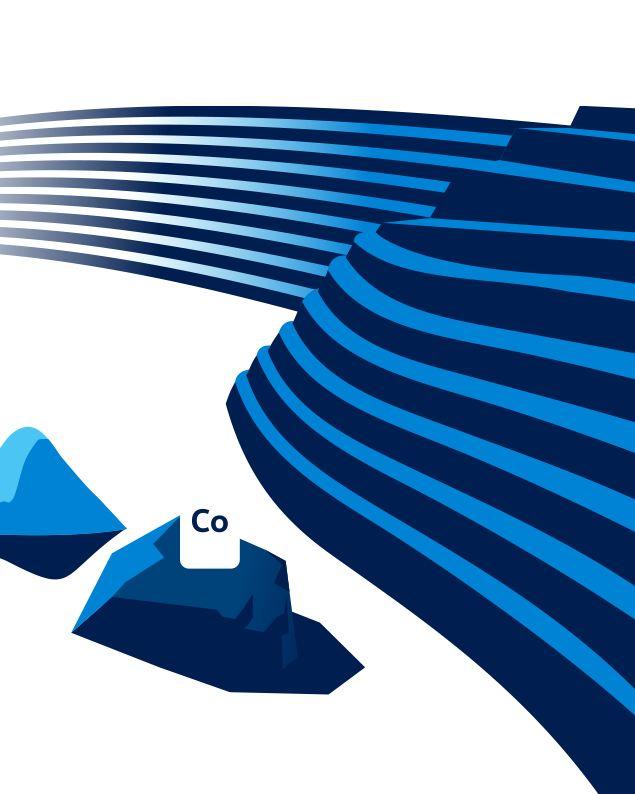 Illustrazione del litio e del cobalto